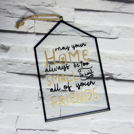 £2 Glass house shaped Home & Friends sign